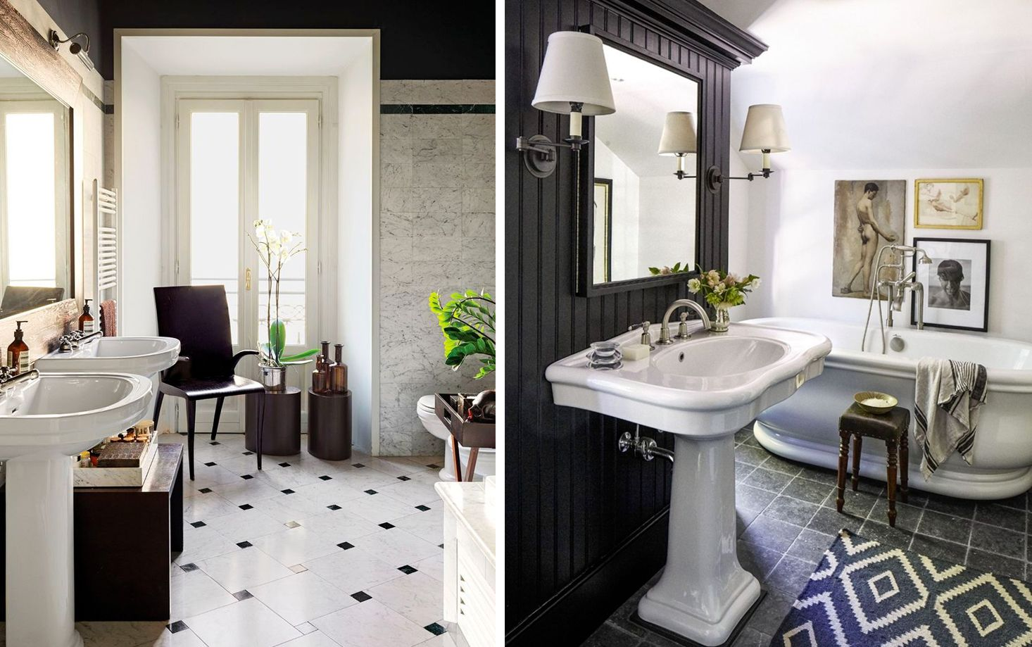 4+ Black & White Bathroom Design and Tile Ideas