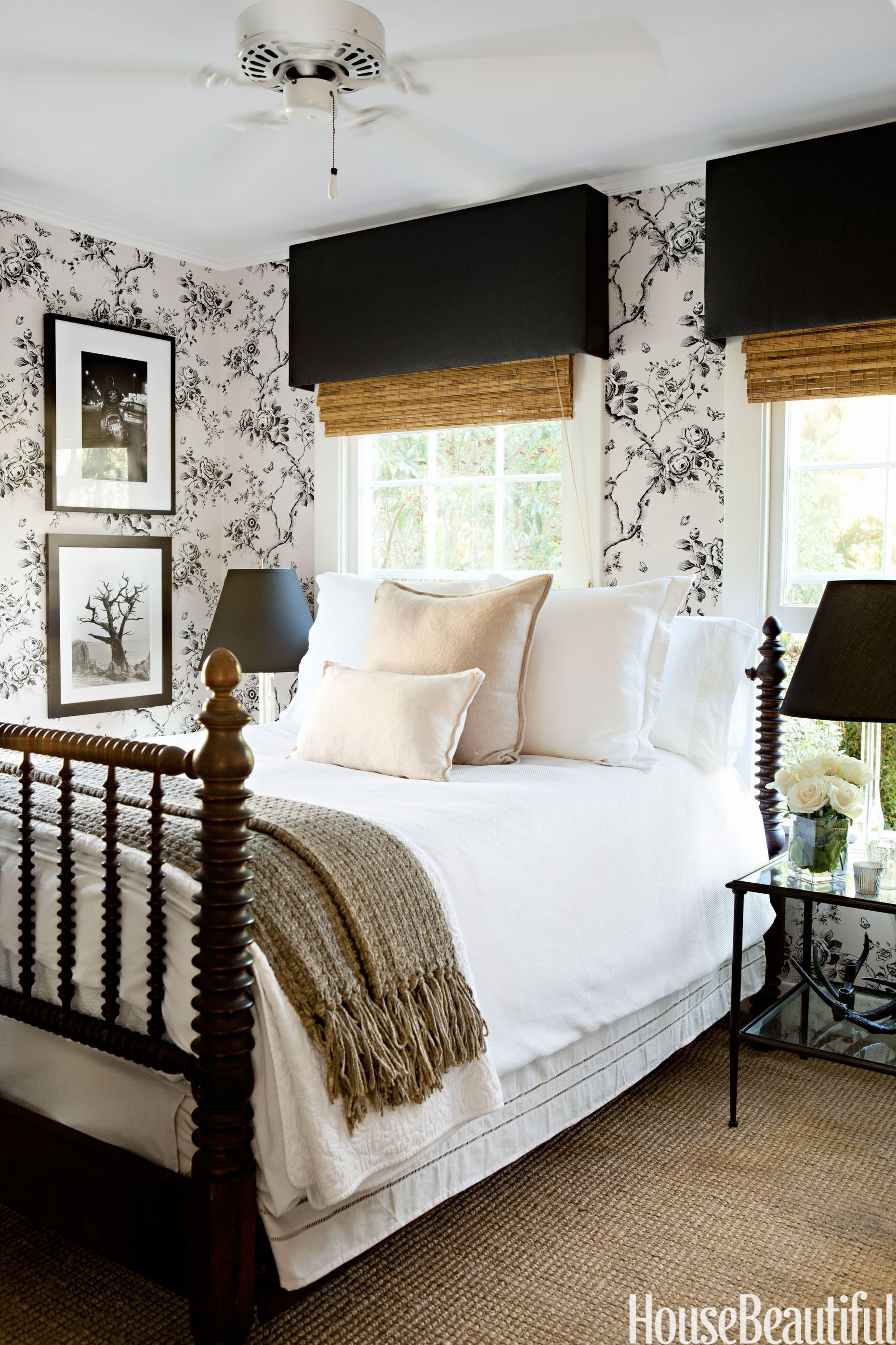 15 beautiful black and white bedroom ideas black and white decor rh housebeautiful com black and white bedroom ideas black and white bedroom walls