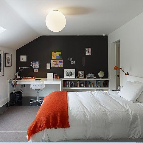 de spec studio, black and white bedroom ideas