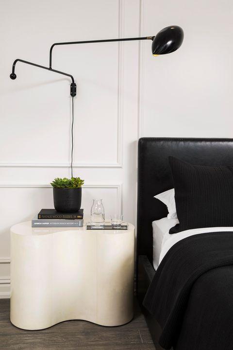 kes studio, black and white bedroom ideas