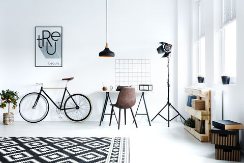Black and white hipster room