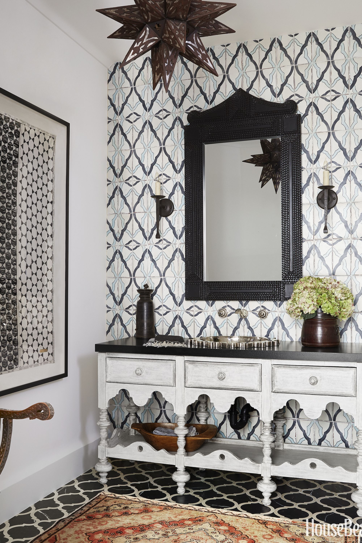 & 15 Black and White Bathroom Ideas - Black u0026 White Tile Designs We Love