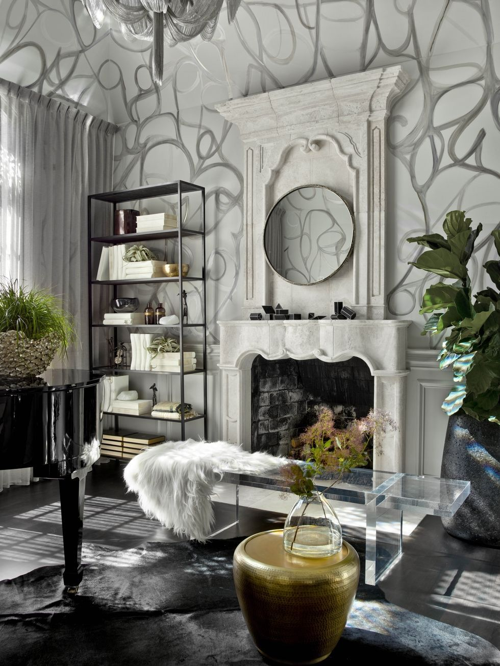 Modern White And Grey Living Room Ideas Property