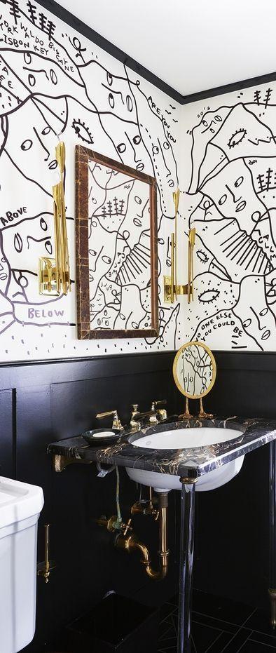 44 Striking Black & White Room Ideas - How to Use Black ...