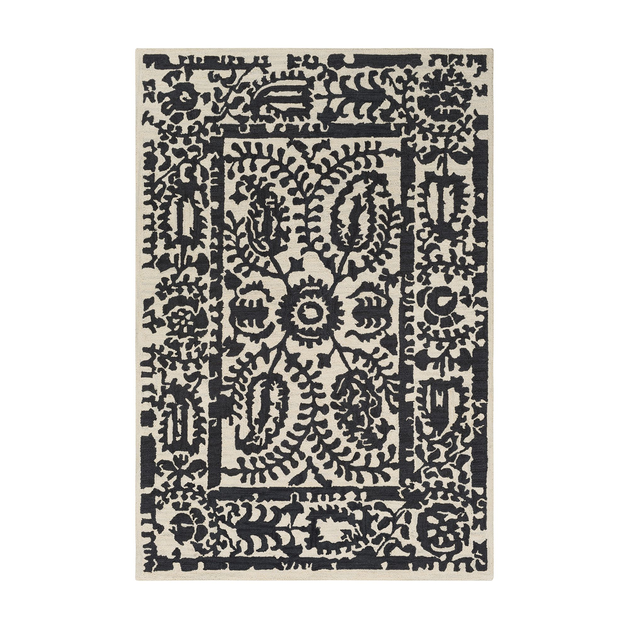 rug birminghamblackwovencottonrug birmingham p albert woven product white list zoom rugs black cotton and dash