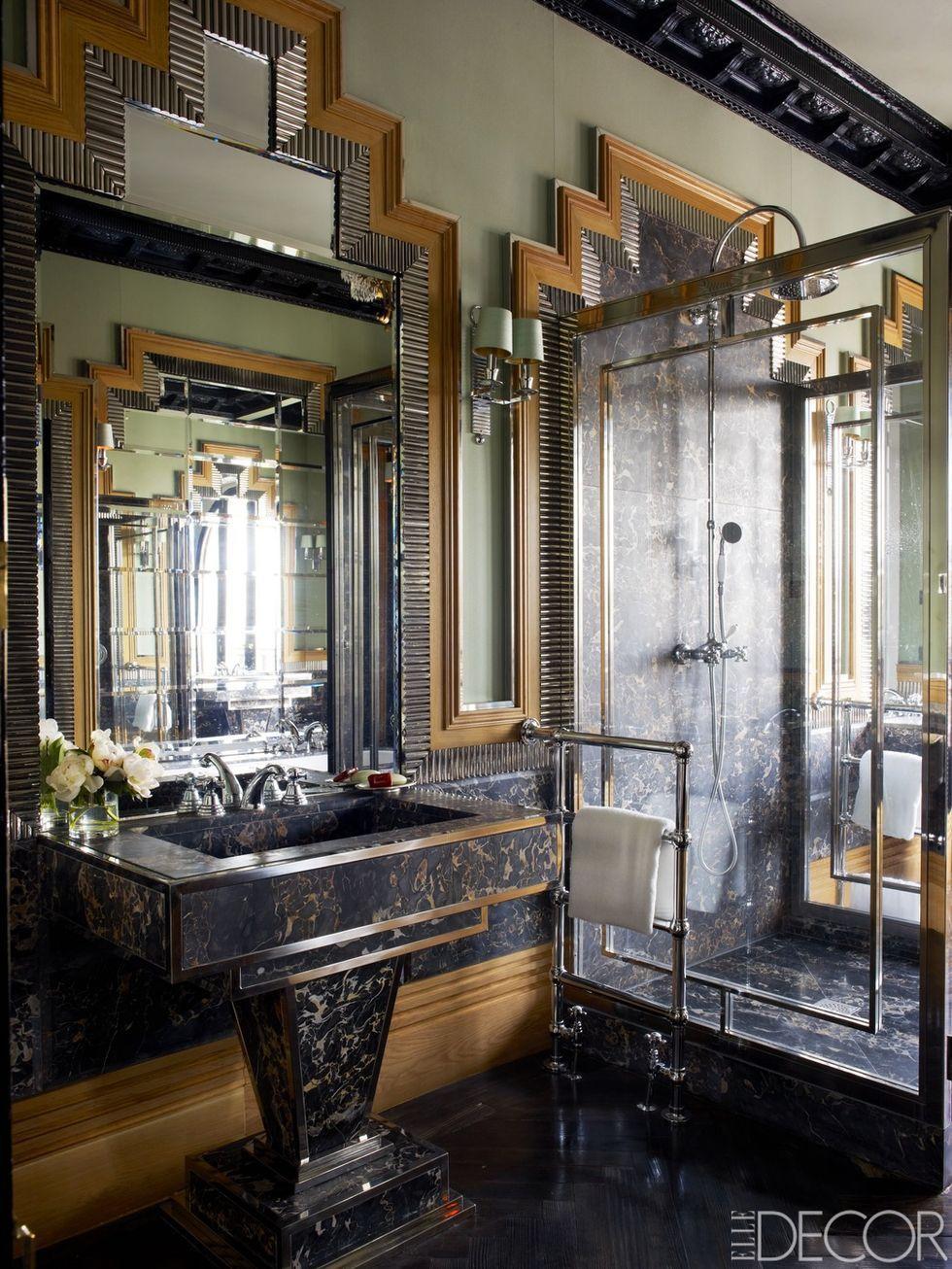 Black home decor Addams Family House Elle Decor 35 Black Room Decorating Ideas How To Use Black Wall Paint Decor