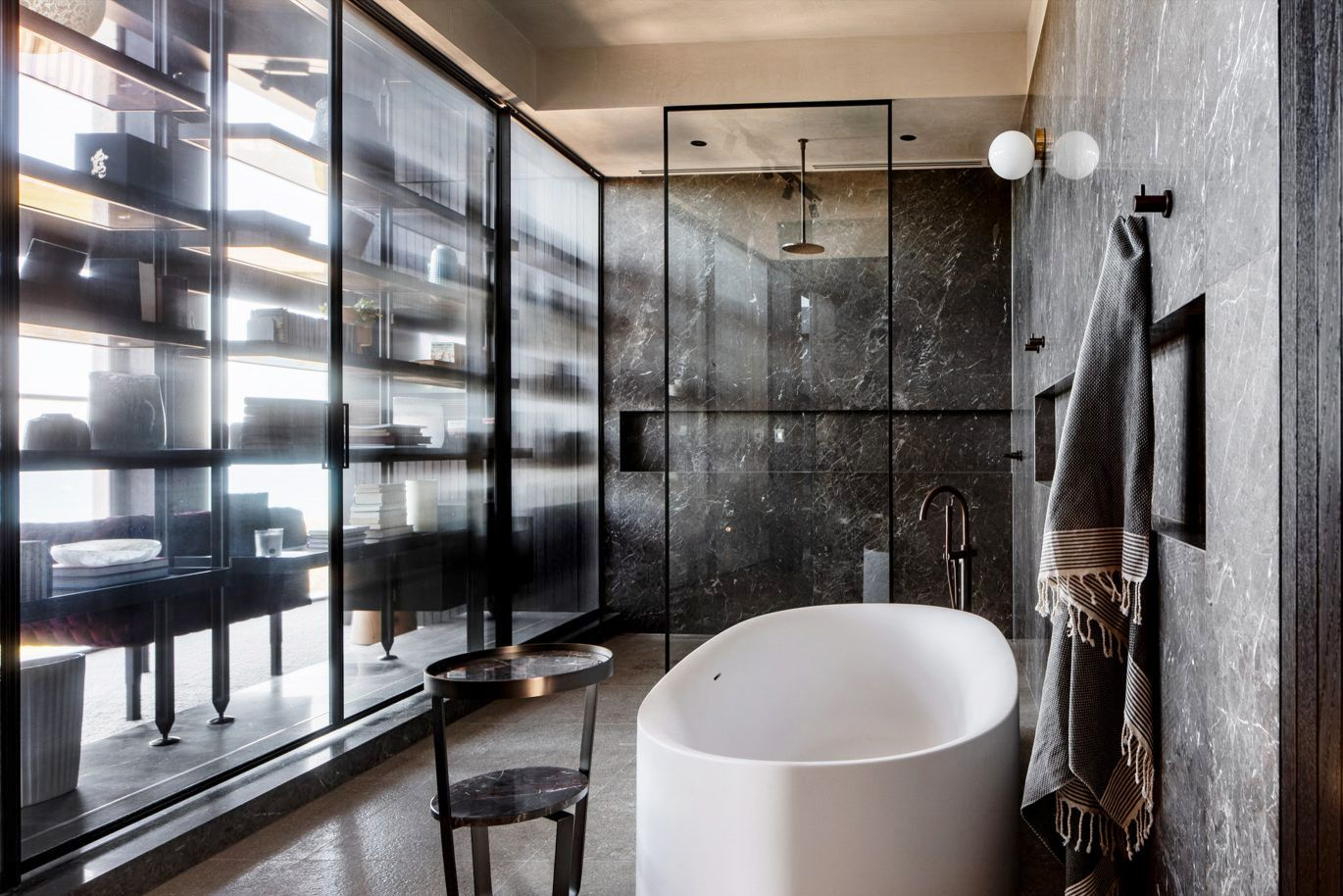 8 Chic Black Bathrooms - Black and White Decorating Ideas