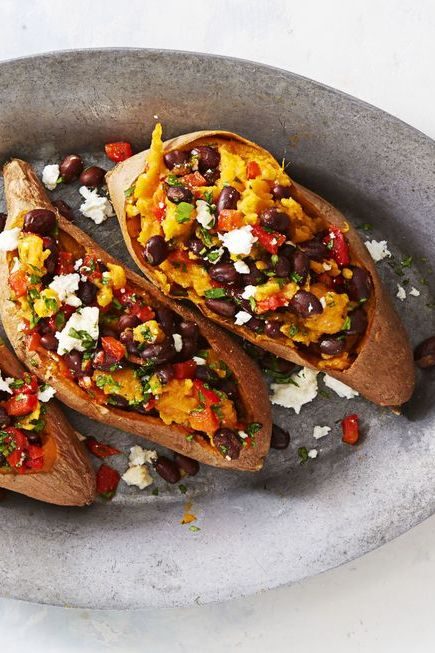 Black Bean Recipes- Supercarb Loaded Sweet Potatoes