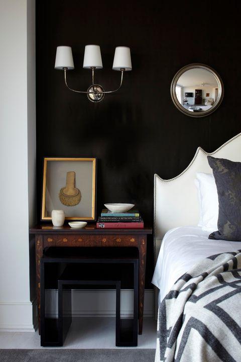 andrew brown interiors, black bedroom ideas