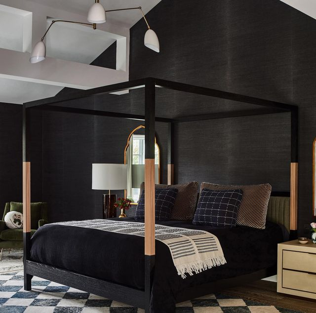 black bedroom ideas, stefani stein