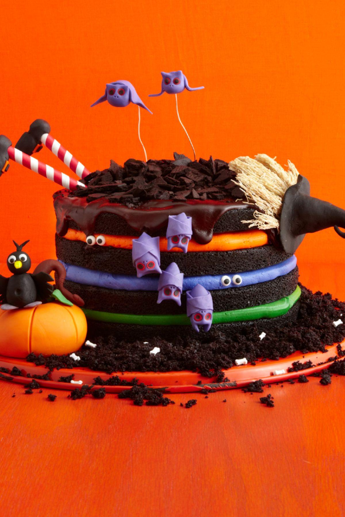 black chocolate witch cake