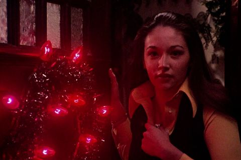 Red, Light, Beauty, Darkness, Lighting, Tree, Lip, Human, Room, Fun,