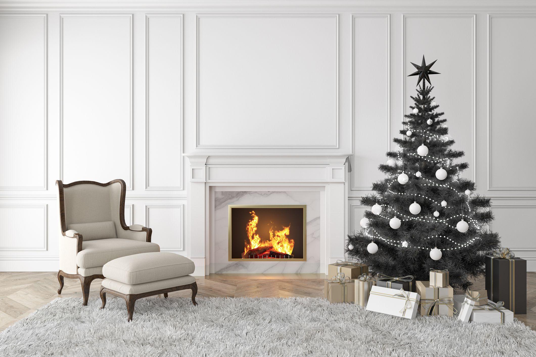 17 Best Black Christmas Tree Ideas , Decorate Black