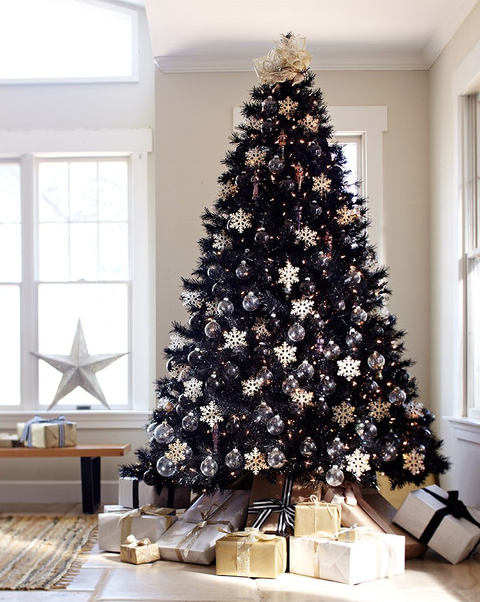 12 Best Black Christmas Tree Ideas - Decorate Black Christmas Trees