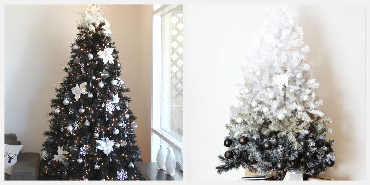 Black Christmas Ornaments.These Striking Black Christmas Trees Are Perfect For The Nonconformist