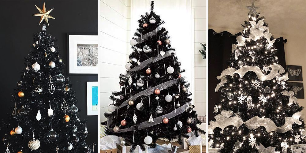 Gray Christmas Tree.These Stunning Black Christmas Trees Will Convince You To Go Dark This Year