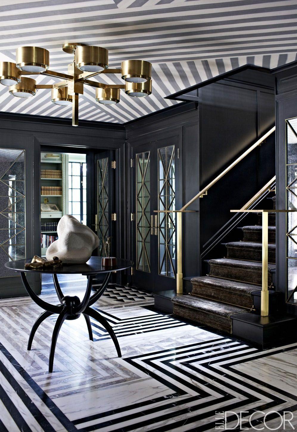 Black floor in the interior