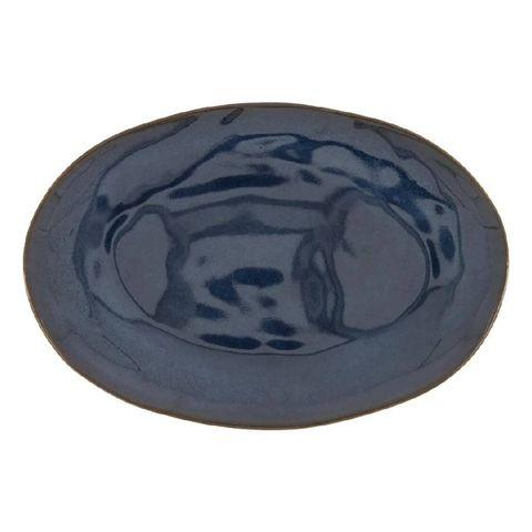 black friday 2020 hema deals schaal ovaal   30 cm   porto   reactief glazuur   donkerblauw