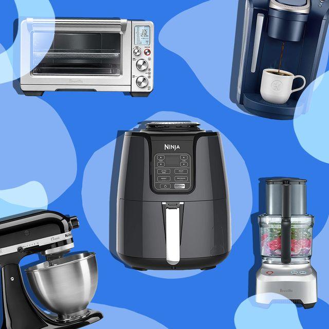 kitchenaid mixer, ninja air fryer, brevill toaster oven, ninja coffee maker, food processor