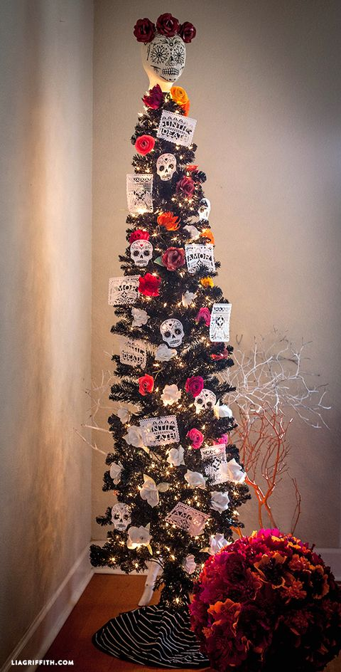 day of the dead christmas tree