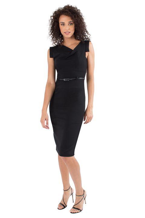 Meghan Markle\'s Little Black Dress - Meghan Markle Wears Black Halo
