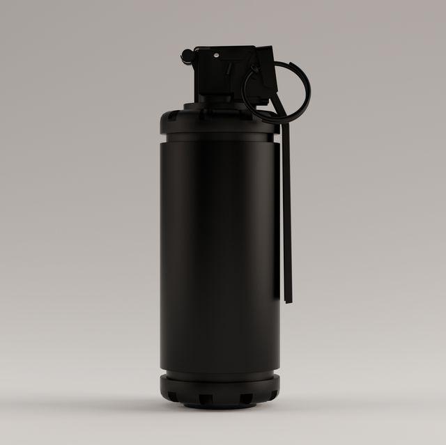 black hand flash bang smoke grenade