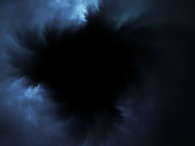 black hole in the sky  abstract digital cloudscape