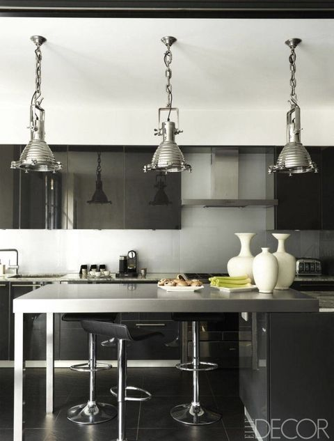 Black Kitchen Design Ideas Pictures Of Black Kitchens Elle Decor