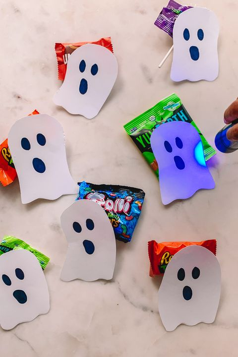 black light halloween candy hunt halloween games