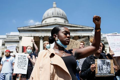 black lives matter manifestazioni foto