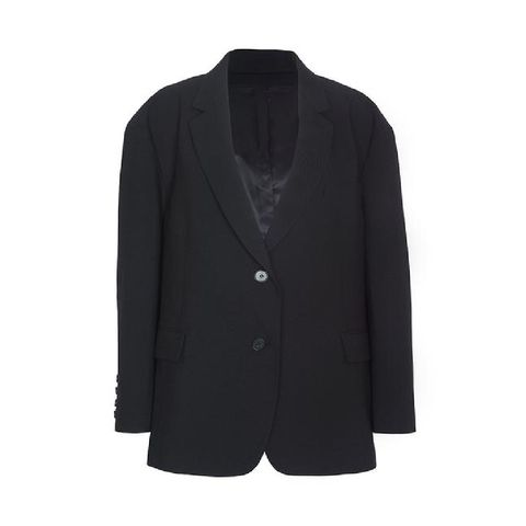 black oversized boyfriend's blazer