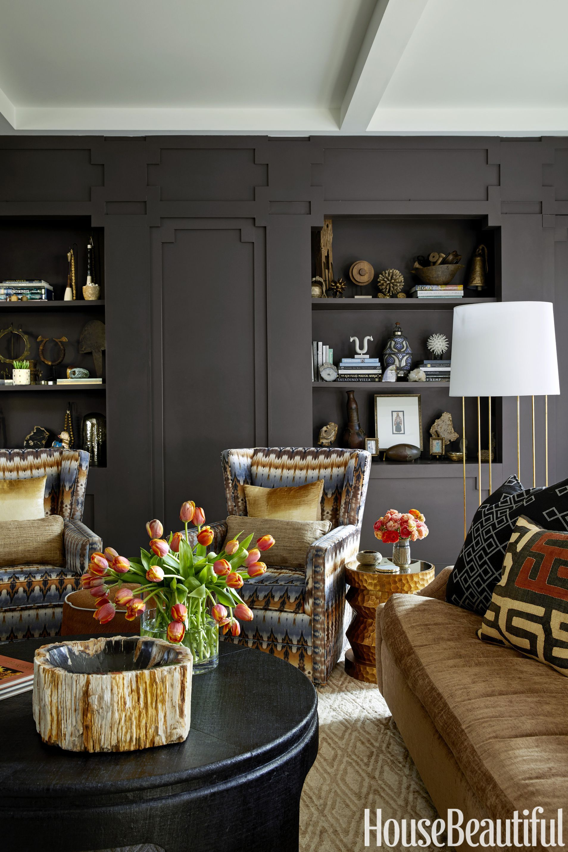 Really Feel Comfy With Black Living Room Furniture House Beautiful