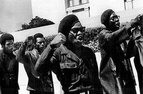 black panther party, beret, protest, fashion