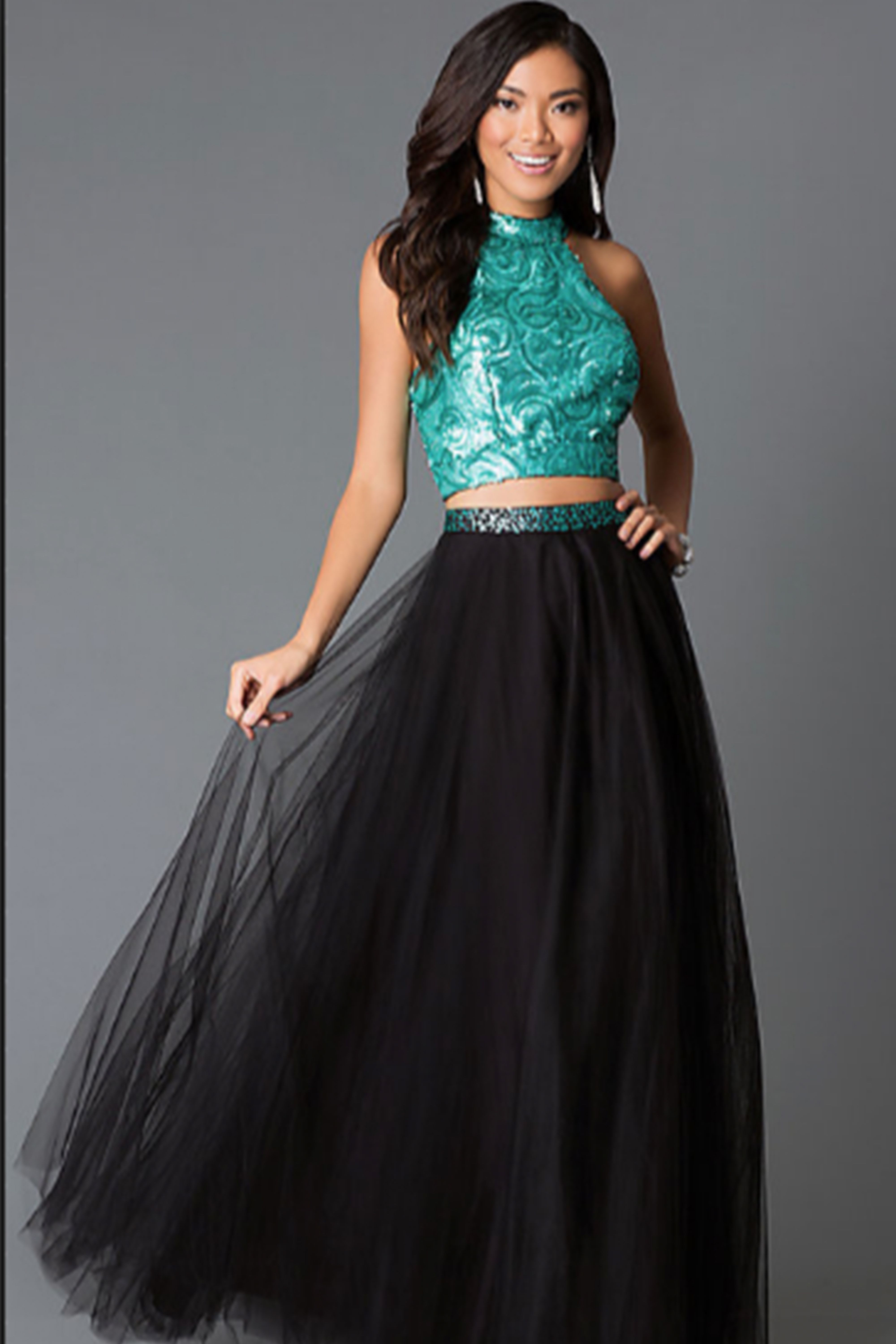 19 Best Two Piece Prom Dresses Of 2018 Stylish Crop Top Prom Dresses
