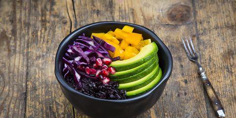 black rice health food bowl