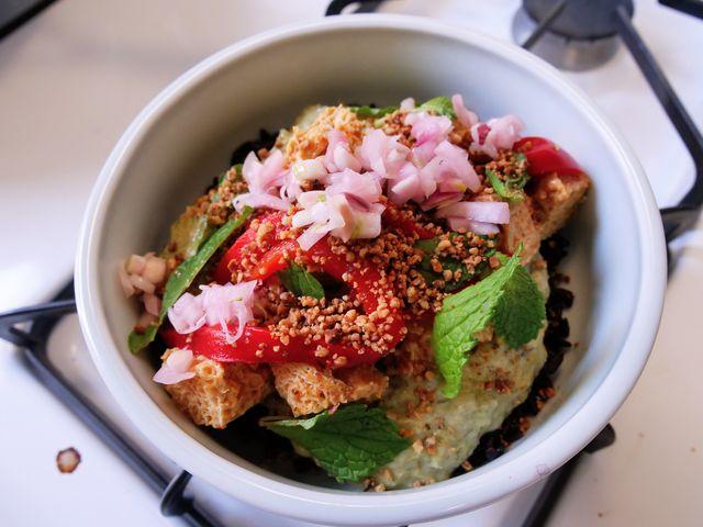 black rice tofu bowl  delishcom