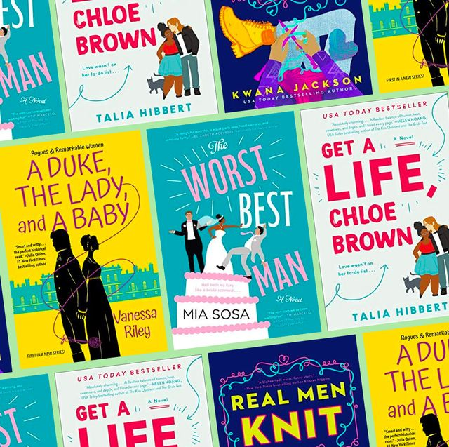 worst best man, get a life chloe brown, real men knit,  a duke the lady  a baby book covers