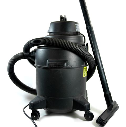 Black Shop Vacuum on a White Background