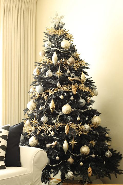 best black christmas tree ideas