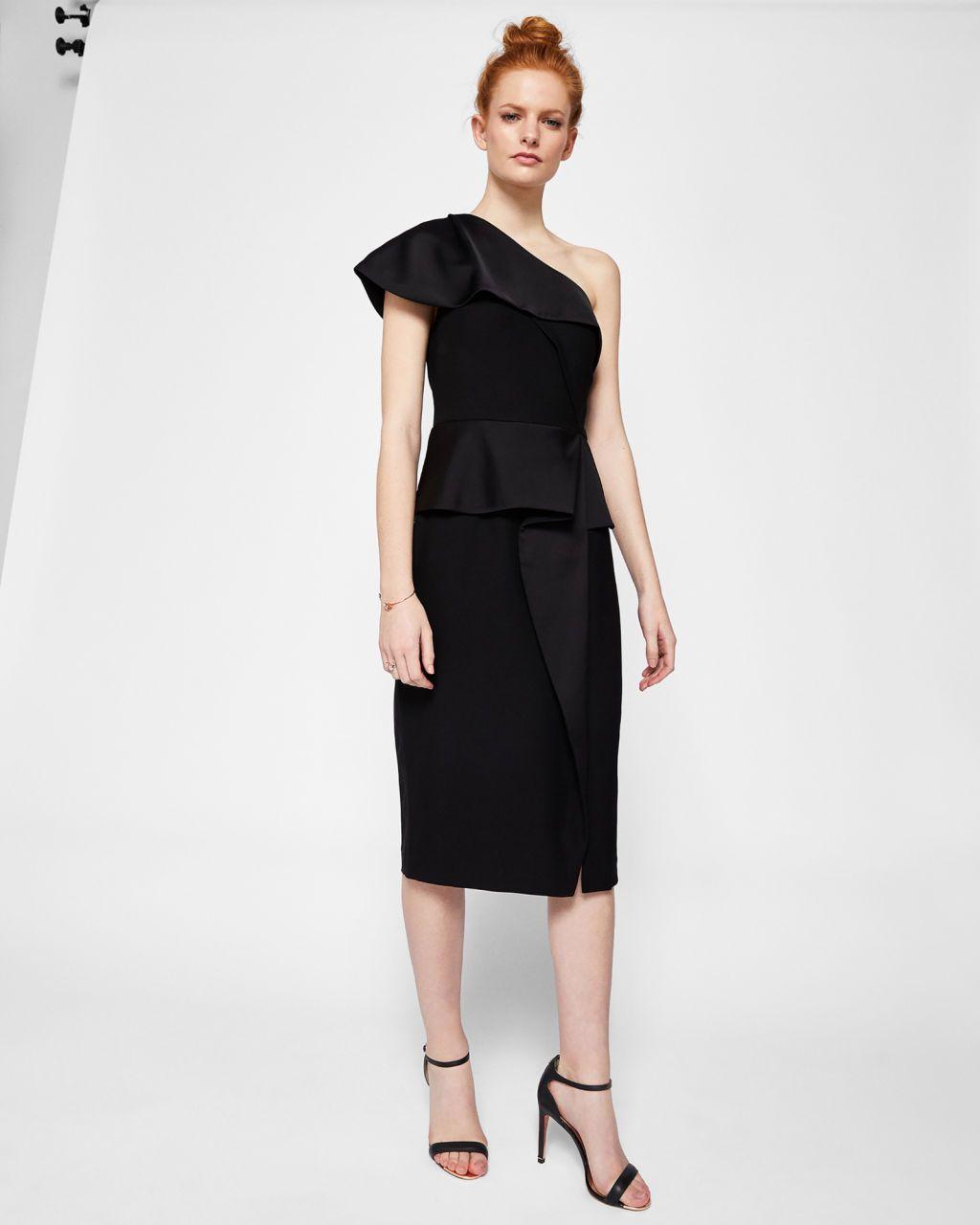 Wear black dress to spring wedding