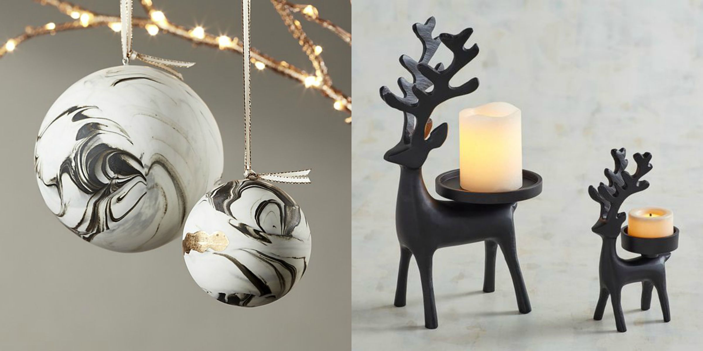Best Black And White Christmas Decorations Chic Black And White