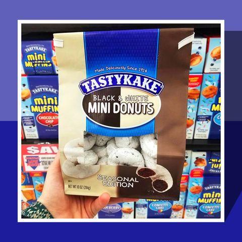 Black and White Mini Donuts