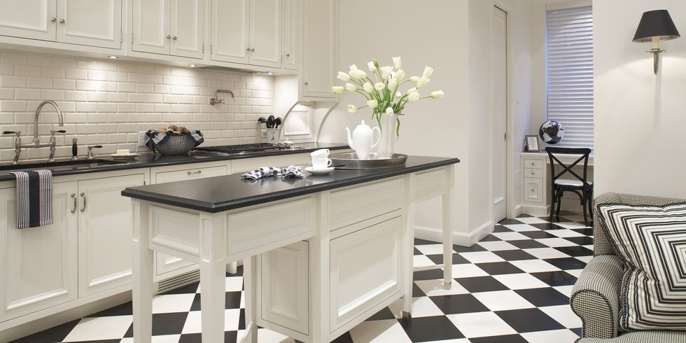 Tremendous Black And White Kitchen Floor Tiles Design Modern Home Decor Interior Design Ideas Jittwwsoteloinfo
