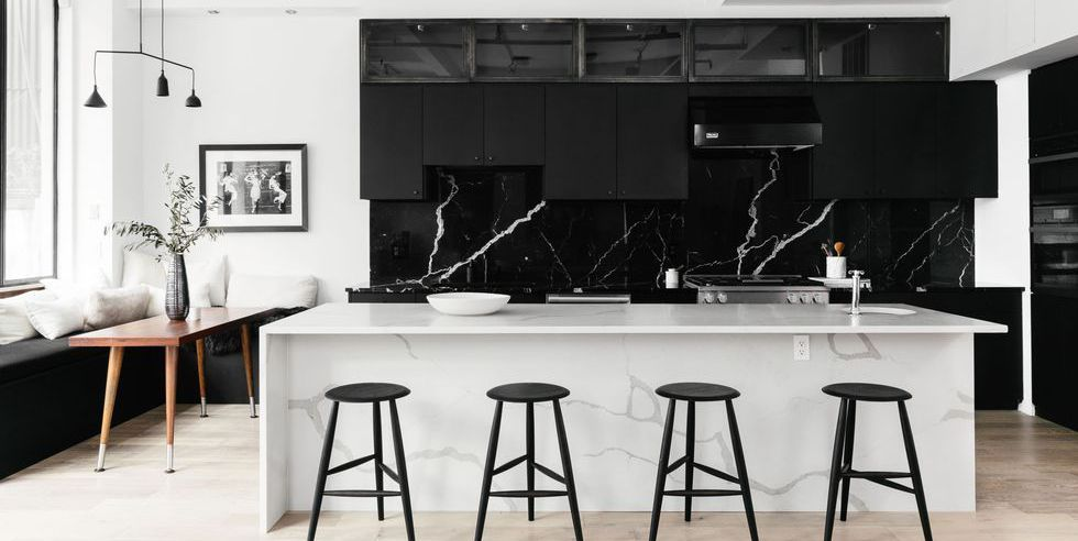 26 Gorgeous Black White Kitchens