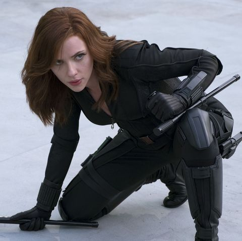 First look at Scarlett Johansson filming Black Widow solo movie