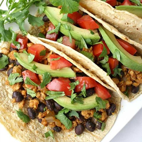 black bean tempeh taco