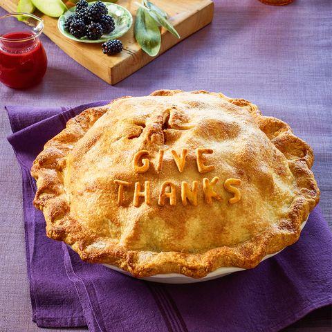Blackberry, Apple, and Sage Double-Crust Pie