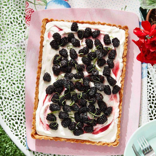blackberry coconut tart