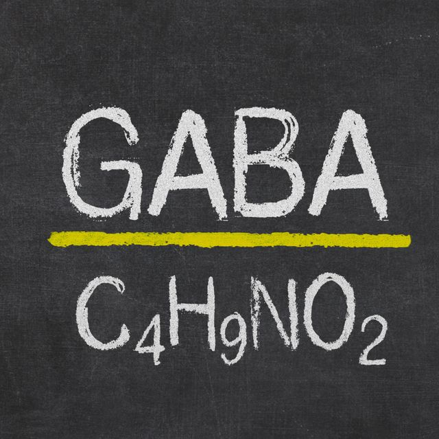 blackboard with the chemical formula of gaba