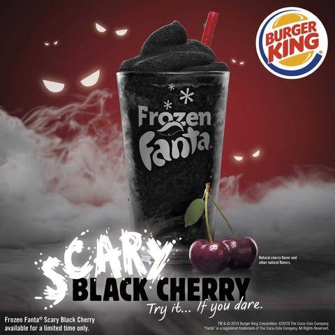 Image result for Frozen Fanta Scary Black Cherry burger king